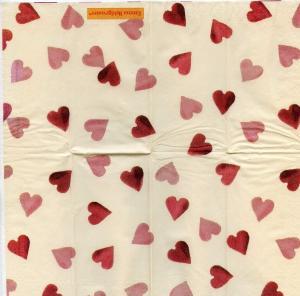 Розсыпь сердец, 21х21 см, салфетка для декупажа - Заготовки для декупажа. Интернет-магазин Завиток