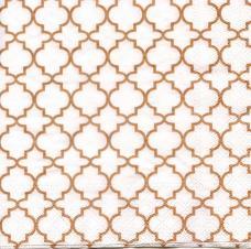 Восточный орнамент белый, 33х33 см, салфетка для декупажа