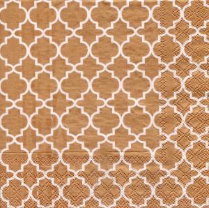Восточный орнамент бронзовый, 33х33 см, салфетка для декупажа - Заготовки для декупажа. Интернет-магазин Завиток