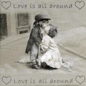 Love is all around, 33х33 см, салфетка для декупажа - Заготовки для декупажа. Интернет-магазин Завиток