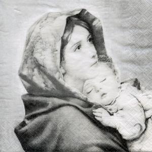 Дева с младенцем, 33х33 см, салфетка для декупажа - Заготовки для декупажа. Интернет-магазин Завиток