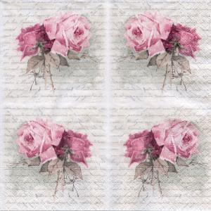 Винтажные розы, 33х33 см, салфетка для декупажа - Заготовки для декупажа. Интернет-магазин Завиток