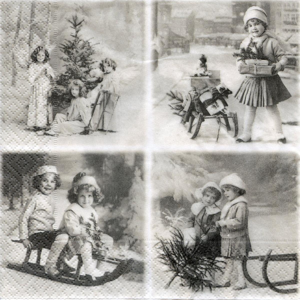 Новогодние картинки черно-белые для декупажа