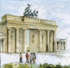 Берлин, 33х33 см,  салфетка для декупажа