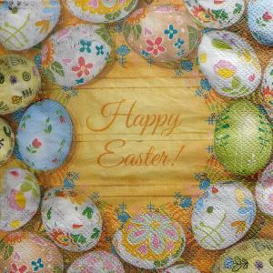 Happy Easter!, 33х33 см, салфетка для декупажа  - Заготовки для декупажа. Интернет-магазин Завиток