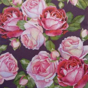 Розы цвета румян, 33х33 см, салфетка для декупажа - Заготовки для декупажа. Интернет-магазин Завиток