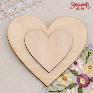 Фигурка из фанеры Сердце, 7 см и 12 см - Заготовки для декупажа. Интернет-магазин Завиток