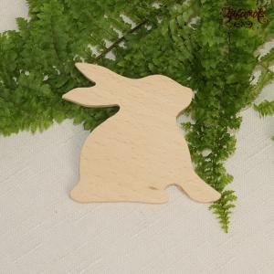 Кролик, фигурка пасхальная из дерева, 7х8 см - Заготовки для декупажа. Интернет-магазин Завиток