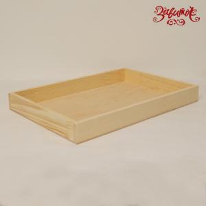 Поднос без ручек из сосны и фанеры, 40х27 см - Заготовки для декупажа. Интернет-магазин Завиток