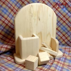 Вечный календарь деревянный Аркада канцелярский, 18х22 см - Заготовки для декупажа. Интернет-магазин Завиток