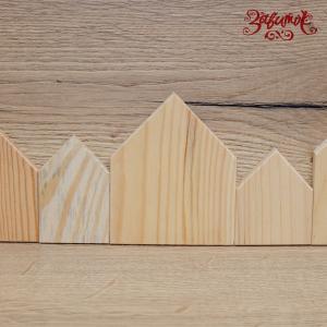 Домики деревянные, набор из 5 шт - Заготовки для декупажа. Интернет-магазин Завиток
