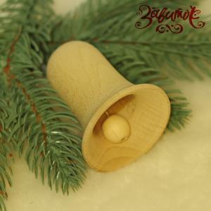 Колокольчик деревянный с язычком, 6,5 см - Заготовки для декупажа. Интернет-магазин Завиток