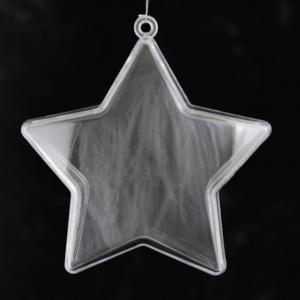 Звезда разъёмная из пластика, 8 см - Заготовки для декупажа. Интернет-магазин Завиток