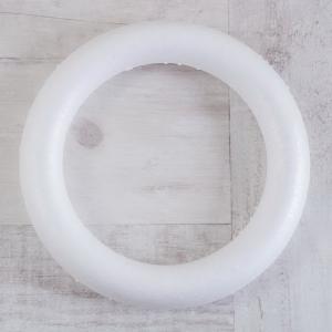 Основа для венка круглая, пенопласт, 25 см - Заготовки для декупажа. Интернет-магазин Завиток