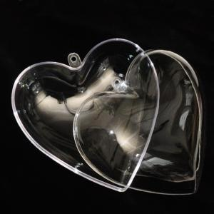 Сердце разъёмное из пластика, 10 см - Заготовки для декупажа. Интернет-магазин Завиток