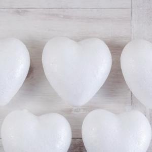 Сердце, 6 см, объемная фигурка из пенопласта - Заготовки для декупажа. Интернет-магазин Завиток