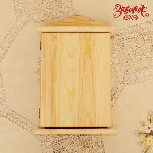 Ключница с дверцей из сосны, 30х20 см - Заготовки для декупажа. Интернет-магазин Завиток