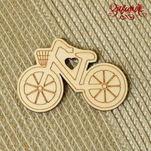 Велосипед, фигурка из фанеры, 7,5х5 см - Заготовки для декупажа. Интернет-магазин Завиток