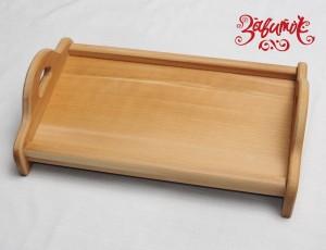 Поднос деревянный на ножках с ручками, 42х25 см - Заготовки для декупажа. Интернет-магазин Завиток