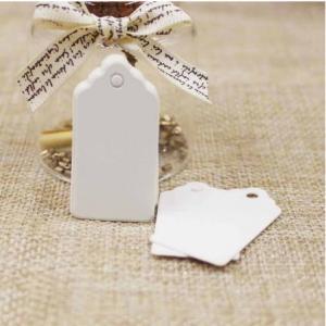 Бирка белая, 40х20 мм, картон - Заготовки для декупажа. Интернет-магазин Завиток