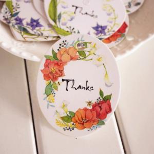 Thanks, бирка цветочная овальная, 50х62 мм - Заготовки для декупажа. Интернет-магазин Завиток