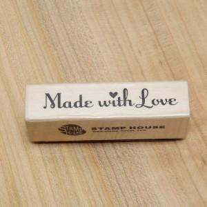 """Штамп """"Made with love"""" (Сделано с любовью), 6 см - Заготовки для декупажа. Интернет-магазин Завиток"""