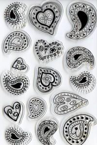 """Набор штампов """"Сердца"""" - Заготовки для декупажа. Интернет-магазин Завиток"""