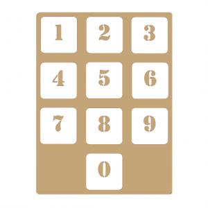 Трафарет Цифры для Вечных календарей №63 - Заготовки для декупажа. Интернет-магазин Завиток