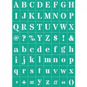 Трафарет №74 Буквы и знаки, клеевой - Заготовки для декупажа. Интернет-магазин Завиток