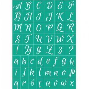Трафарет №75 Английский алфавит, клеевой - Заготовки для декупажа. Интернет-магазин Завиток
