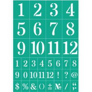 Трафарет №76 Цифры и знаки, клеевой - Заготовки для декупажа. Интернет-магазин Завиток