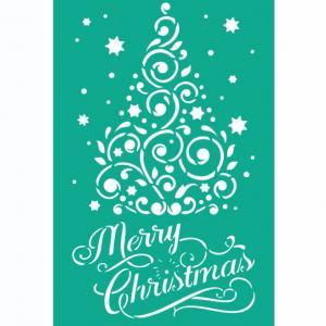 Трафарет №113 Merry Christmas, 11х19 см - Заготовки для декупажа. Интернет-магазин Завиток