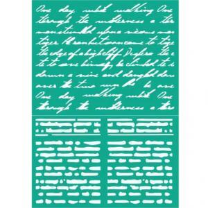 Трафарет №104 Строки, 12х18 см - Заготовки для декупажа. Интернет-магазин Завиток