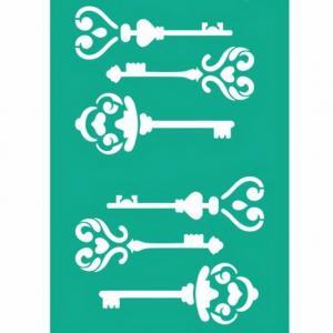 Трафарет №108 Ключи, 13х20 см - Заготовки для декупажа. Интернет-магазин Завиток