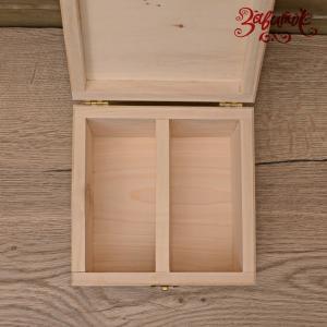 Шкатулка с разделителем (уценка), 15х15х10,5 см - Заготовки для декупажа. Интернет-магазин Завиток